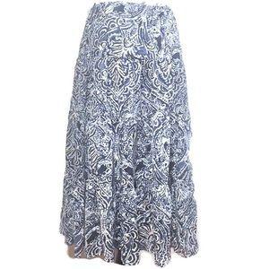 3/$15 Chaps Tiered Cotton Boho Skirt